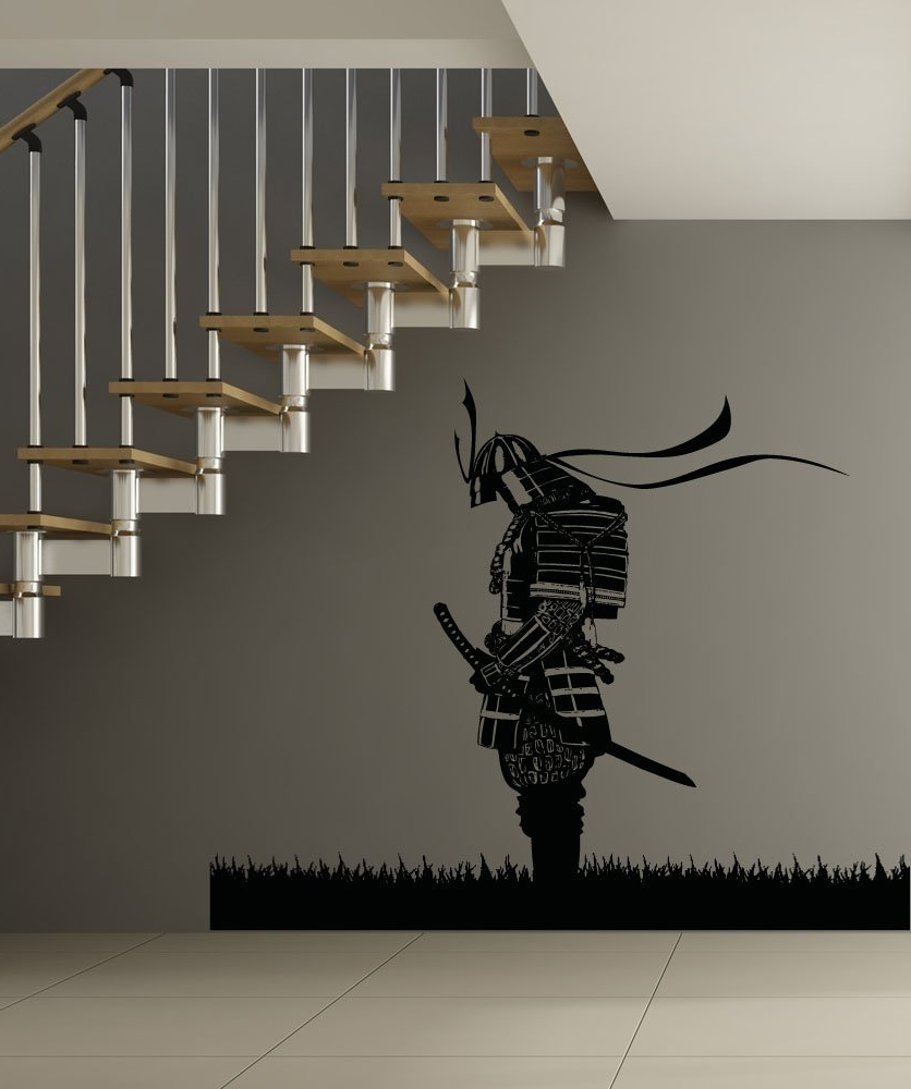 Favorite Samurai Wall Art Within Amazon: Stickerbrand Asian Décor Vinyl Wall Art Meditating (View 2 of 15)