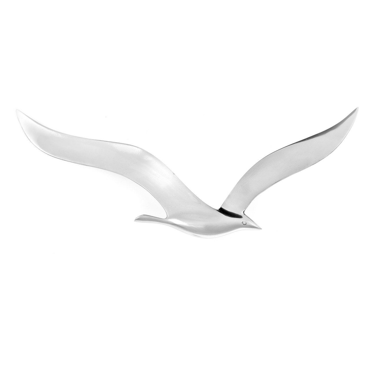 Favorite Seagull Metal Wall Art Regarding Flying Seagull Bird – Handmade Metal Wall Art Decor – Silver (View 2 of 15)