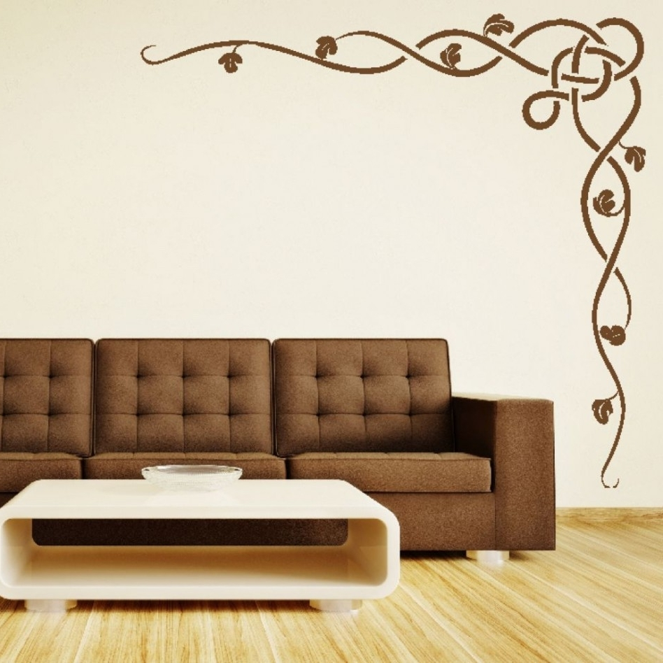 Favorite Space Stencils For Walls Within Decoration Ideas: Casual Living Room Decoration Using Brown (View 8 of 15)