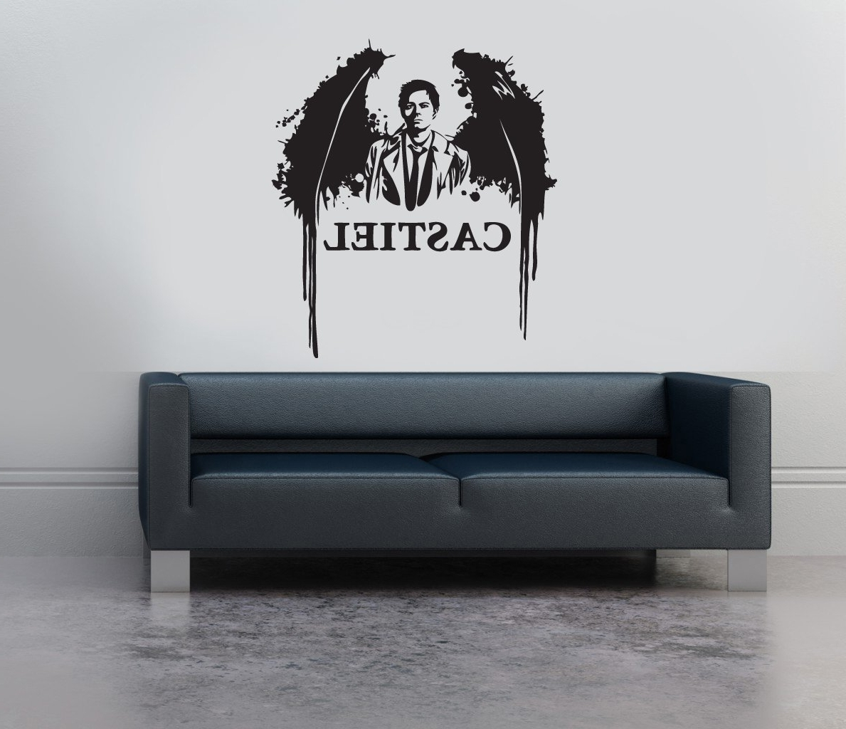 Favorite Supernatural Wall Art Throughout Castiel Supernatural Silhouette Vinyl Wall Art Tv Series Sticker (View 4 of 15)