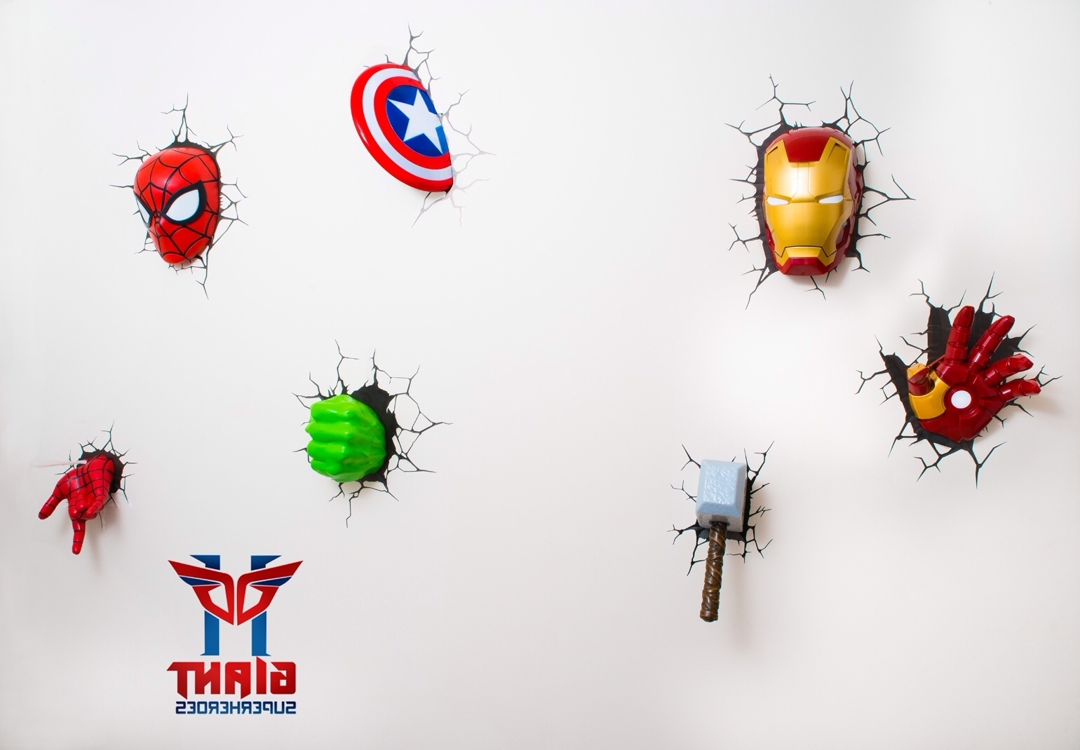 Favorite The Avengers 3d Wall Art Nightlight Within Super Cool Avengers 3d Wall Deco Night Lights For Sale! (View 6 of 15)