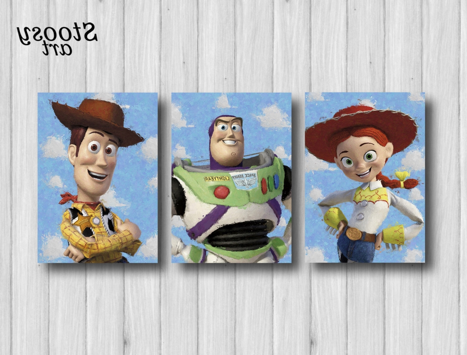Favorite Toy Story Wall Art For Toy Story Poster Set Of 3 Toy Story Wall Art Woody Buzz Lightyear (View 3 of 15)