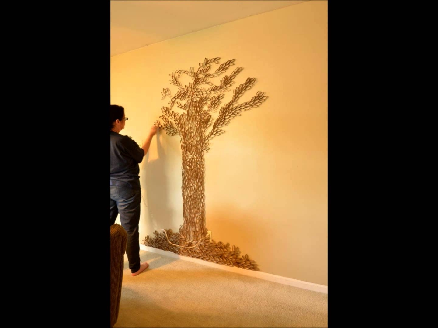 Favorite Tree Sculpture Wall Art Pertaining To Tree Of Life Wall Art – 7Ft Paper Roll Sculpture In 1 Minute (View 7 of 15)