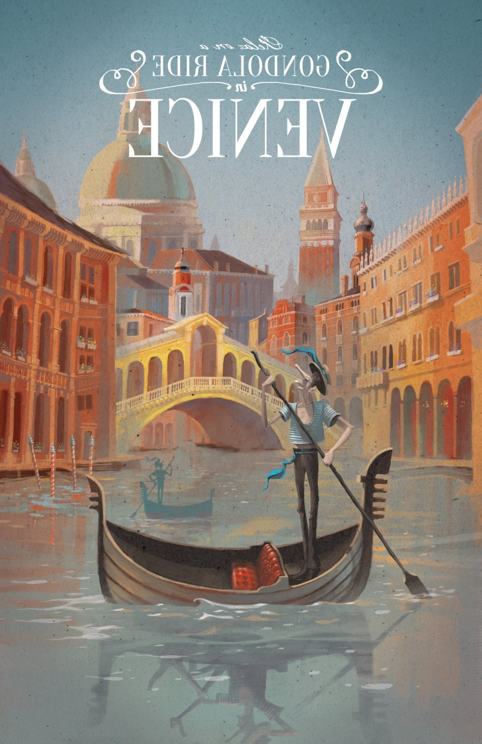 Favorite Venice Travel Poster, Venice Poster, Venice Print, Venice, Travel Within Italian Cities Wall Art (View 4 of 15)