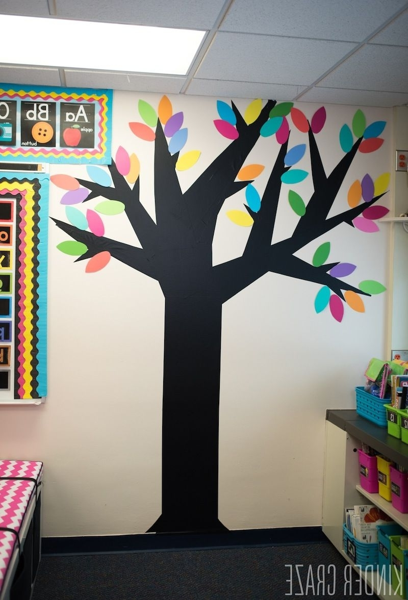 Favorite Video Tutorial: Decorative Vinyl Trees For The Classroom Inside Wall Art For Kindergarten Classroom (View 5 of 15)