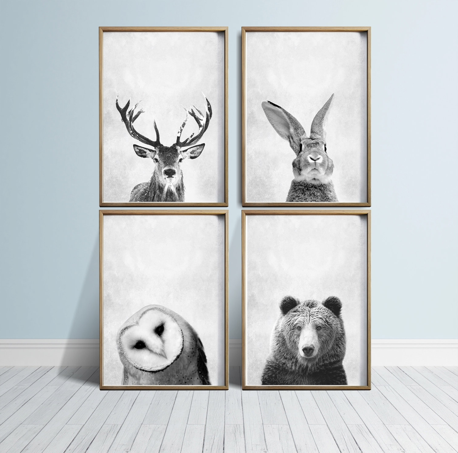 Favorite Wall Art Prints Animal Prints Woodland Nursery Prints Animal Art Inside Nursery Wall Art (View 4 of 15)