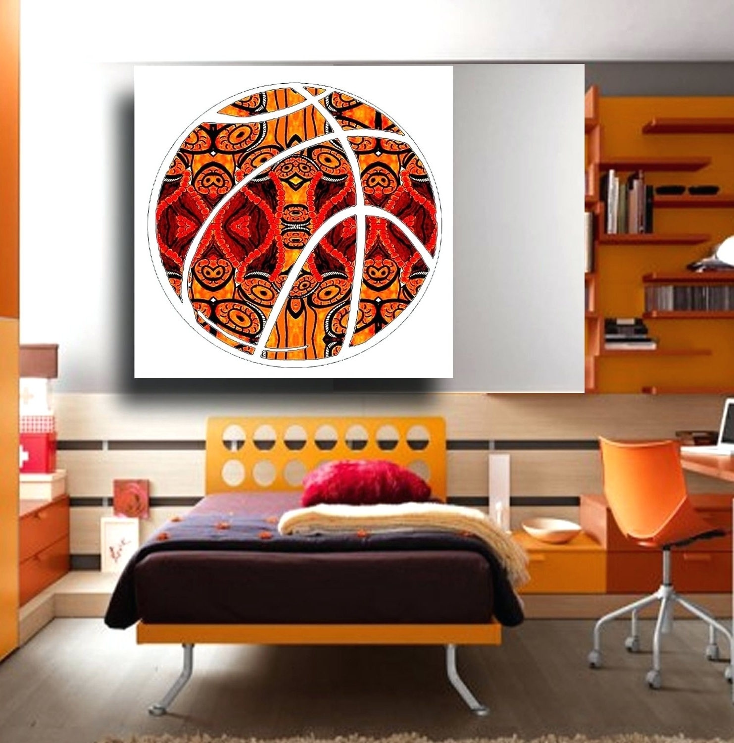 Favorite Wall Arts ~ Basketball Wall Art Stickers Basketball Metal Wall Art For Baseball 3D Wall Art (View 7 of 15)