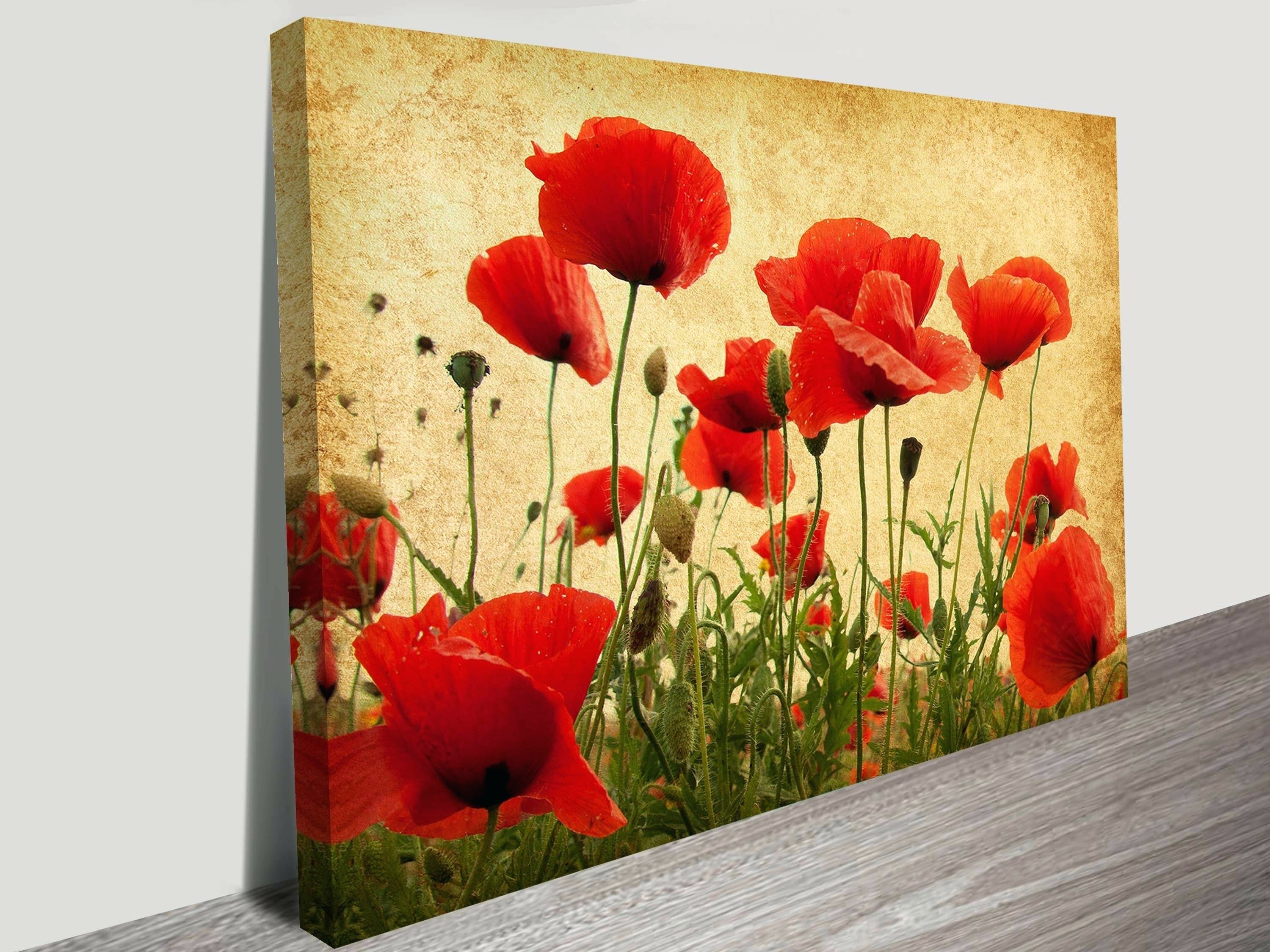 Modern Red Metal Flower Wall Art Ornament - The Wall Art Decorations ...
