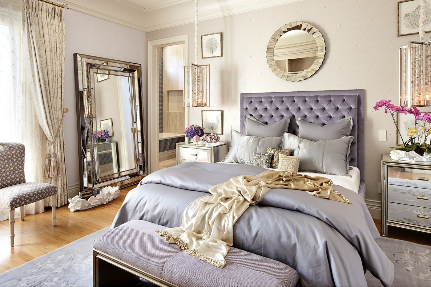 Feminine Wall Art Regarding Fashionable Bedroom Design: Beach Bedroom Feminine Bedroom Furniture Copper (View 6 of 15)