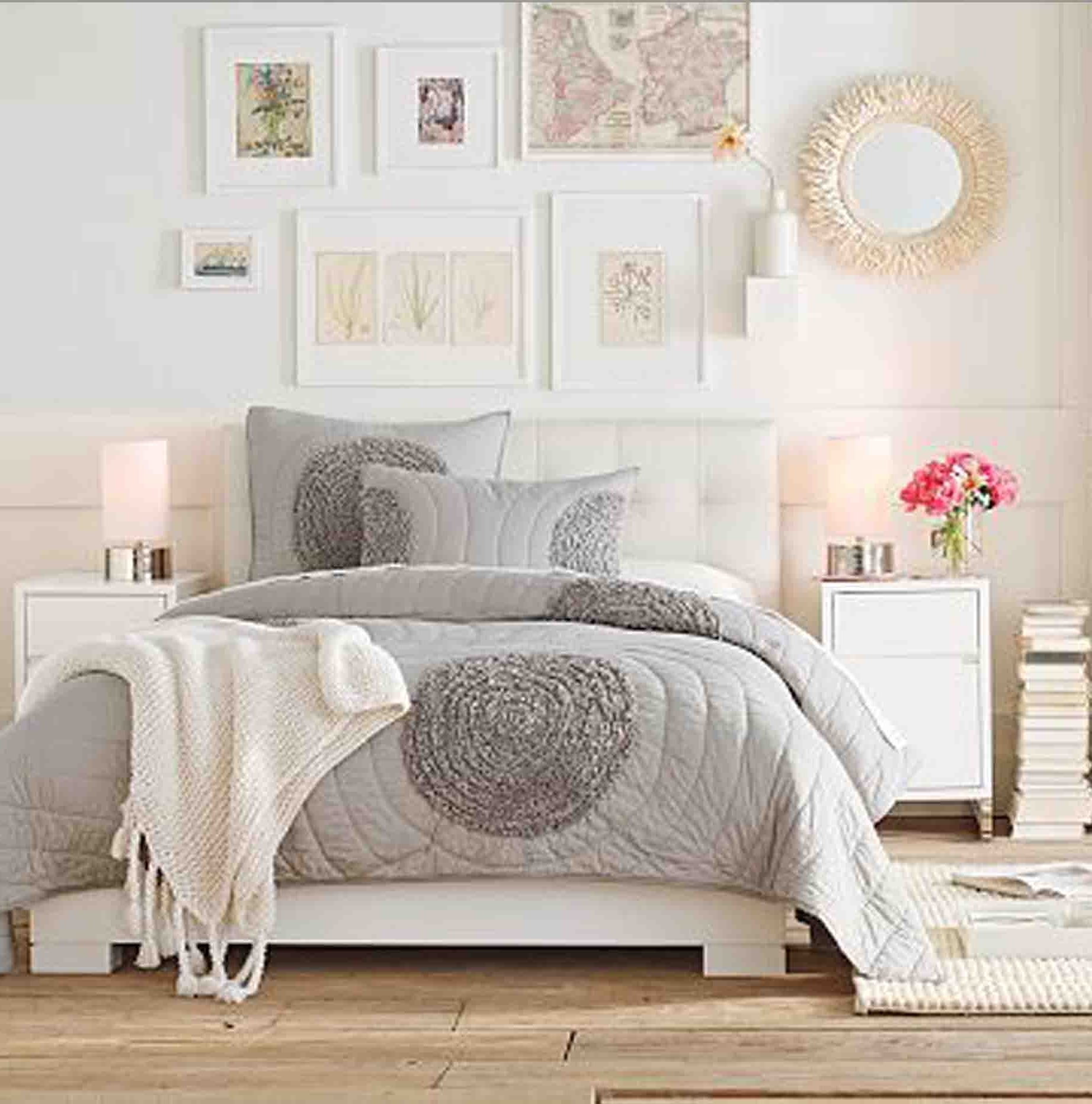Feminine Wall Art Regarding Newest Light And Bright Bedroom Ideas Grey Nutral White Feminine Lime (View 5 of 15)