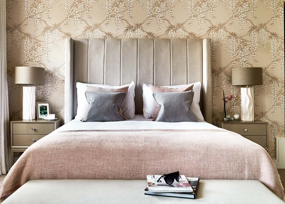 Feminine Wall Art With Fashionable Bedroom Design: Copper Wall Art Best Pillow Feminine Bedroom Decor (View 13 of 15)