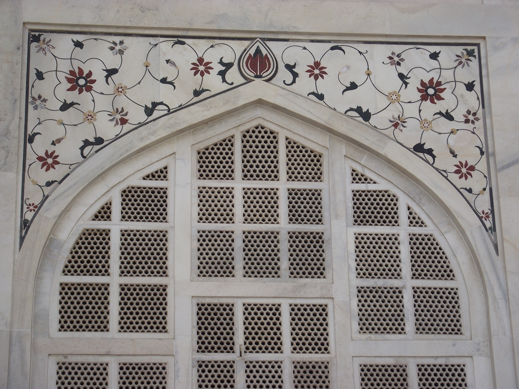 File:decoration Art At Taj Mahal – Wikimedia Commons Inside Famous Taj Mahal Wall Art (View 2 of 15)