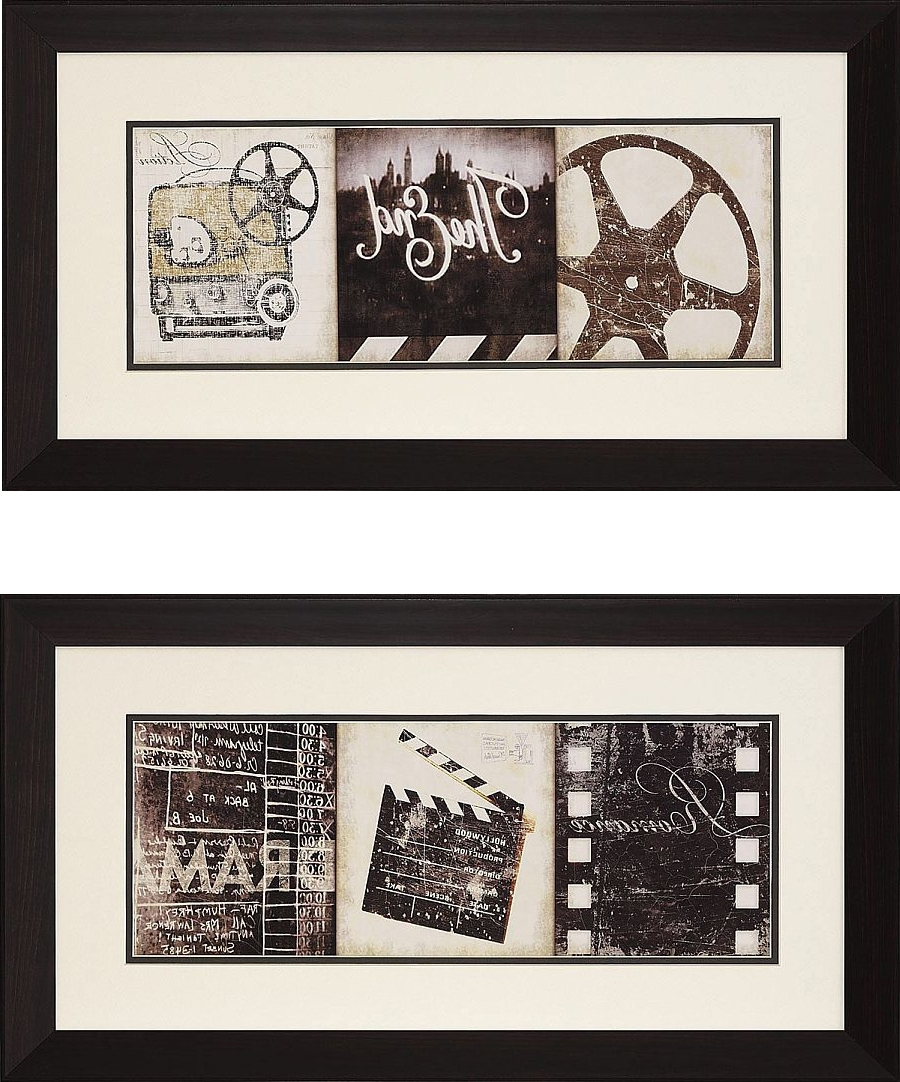 "Film Reel Wall Art Pertaining To Newest The Drama"" And Film Clapboard Framed Theater Wall Art Pair (View 2 of 15)"