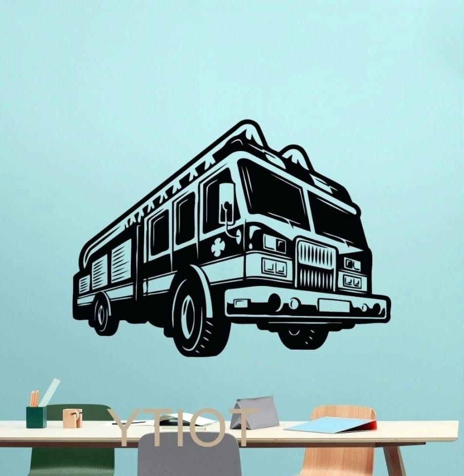 Fire Truck Wall Art Pertaining To Most Recently Released Firetruck Wall Decals – Gutesleben (View 12 of 15)