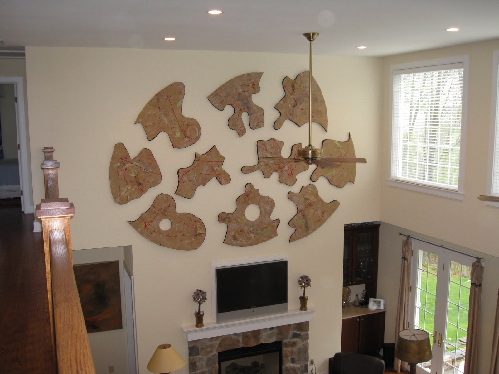 Fireplace Wall Art Regarding Well Liked Astounding Pieces Of Puzzle Large Wall Art Feat Tv Fireplace Also (View 3 of 15)