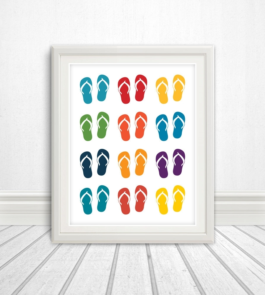 Flip Flop Wall Art Throughout Well Liked Flip Flops Sandals Sandals Print Wall  sc 1 st  Arts Accents Decals Murals Collections and More. & Explore Photos of Flip Flop Wall Art (Showing 11 of 15 Photos)