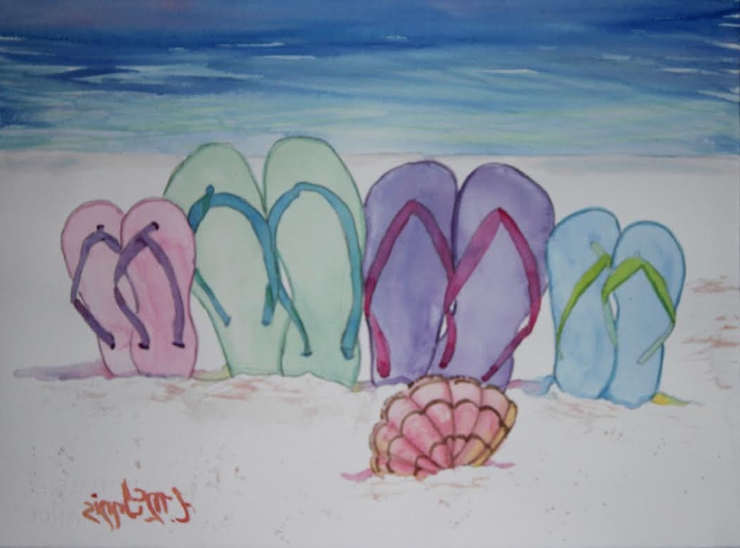 Flip Flop Wall Art Within Favorite Flip Flop Family Painting Party Tues 7 Jun 630 Pm In Niceville (View 10 of 15)