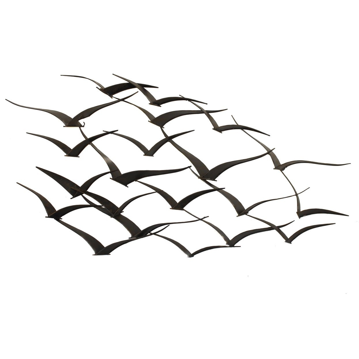 Flock Of Birds Metal Wall Art With Newest Amazon: Urban Designs Handcrafted Flock Of Birds Metal Wall (View 8 of 15)