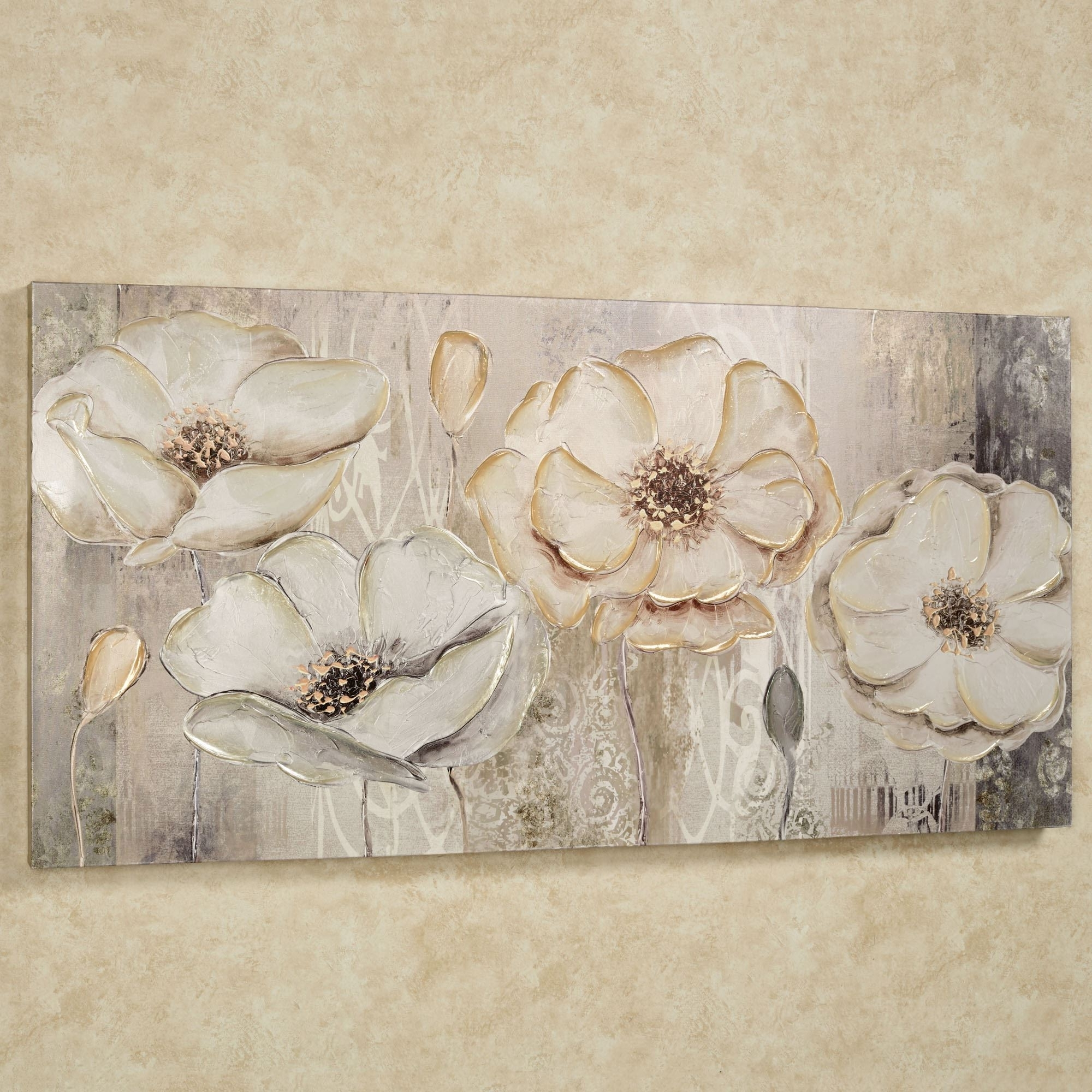 Floral Elegance Canvas Wall Art With Well Liked Floral Wall Art Canvas (View 5 of 15)