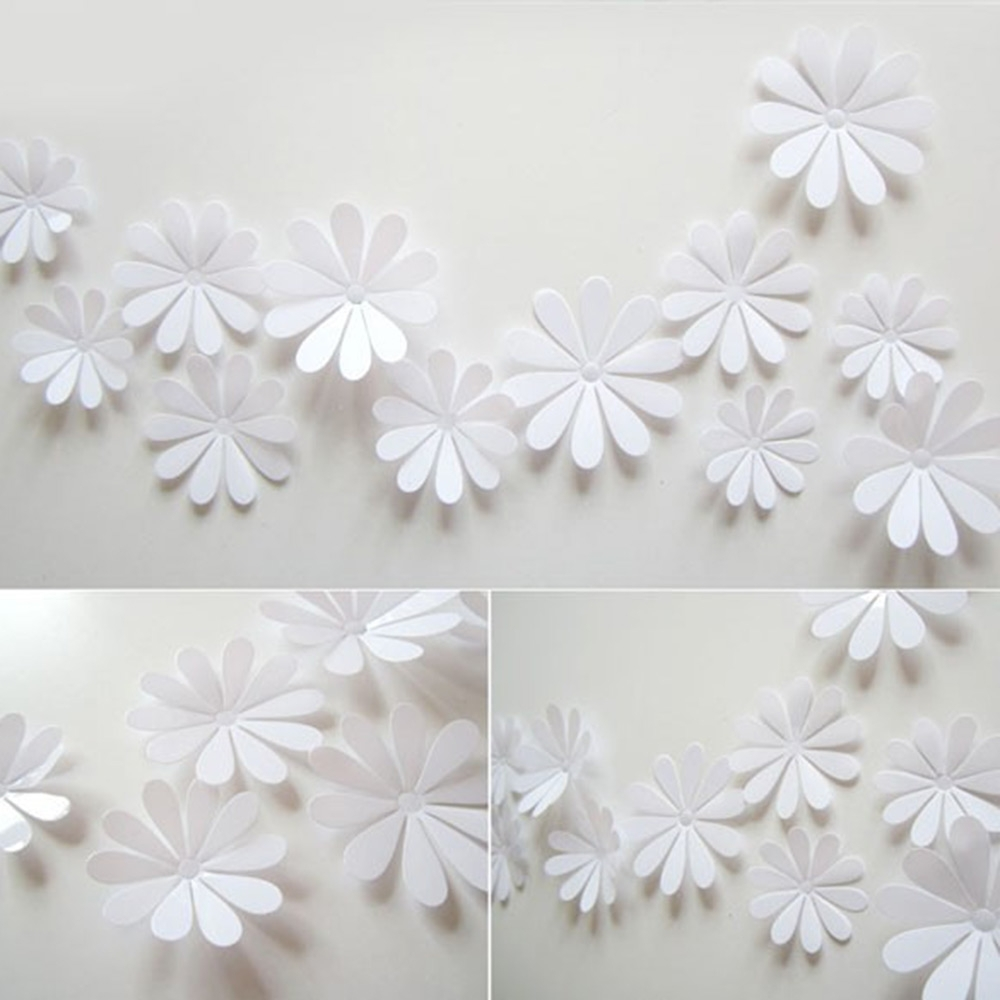 Flowers 3D Wall Art Within Most Up To Date Kilimall: Diy 3D Flowers Wall Sticker Mirror Art Decal Pvc Paper (View 11 of 15)