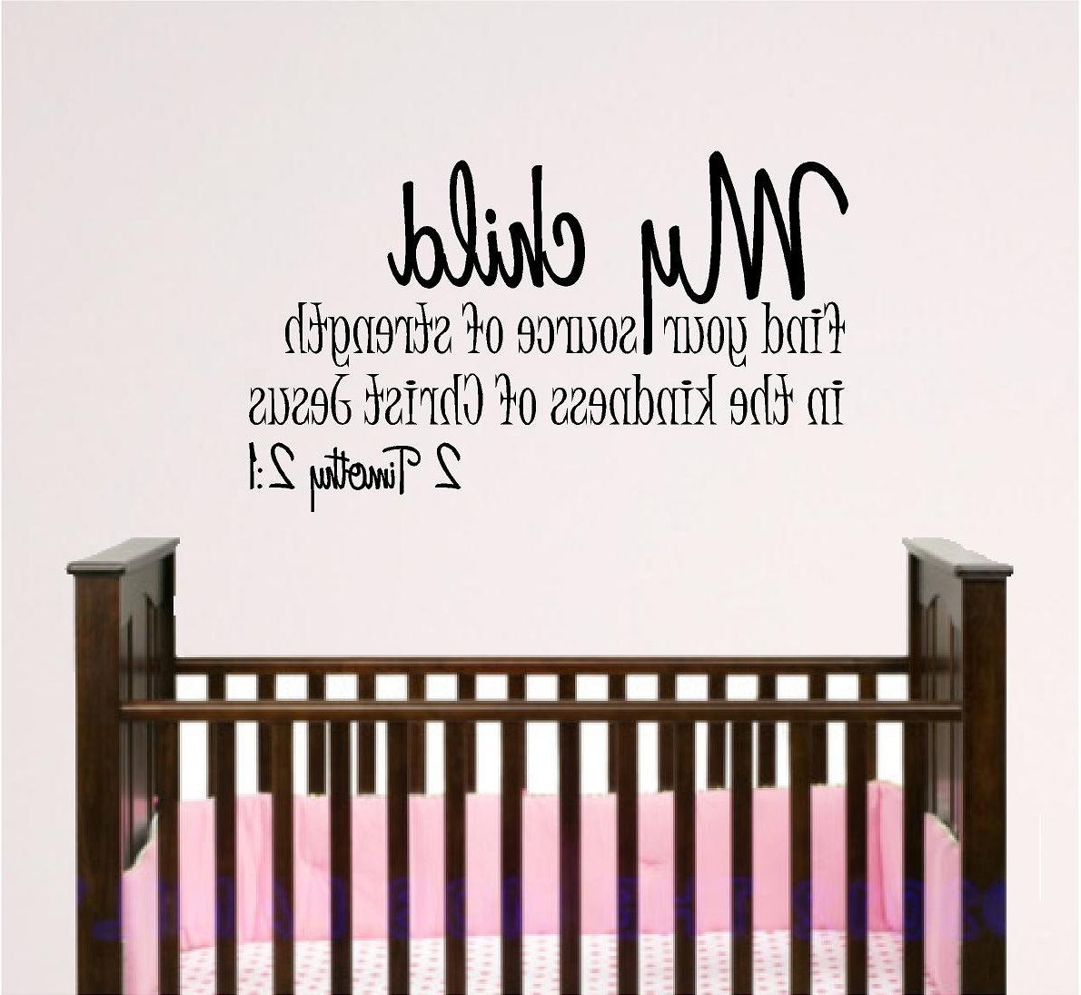 For This Child I Have Prayed Wall Art In Recent Nursery Bible Verse Wall Art, My Child 4Ft. $ (View 6 of 15)