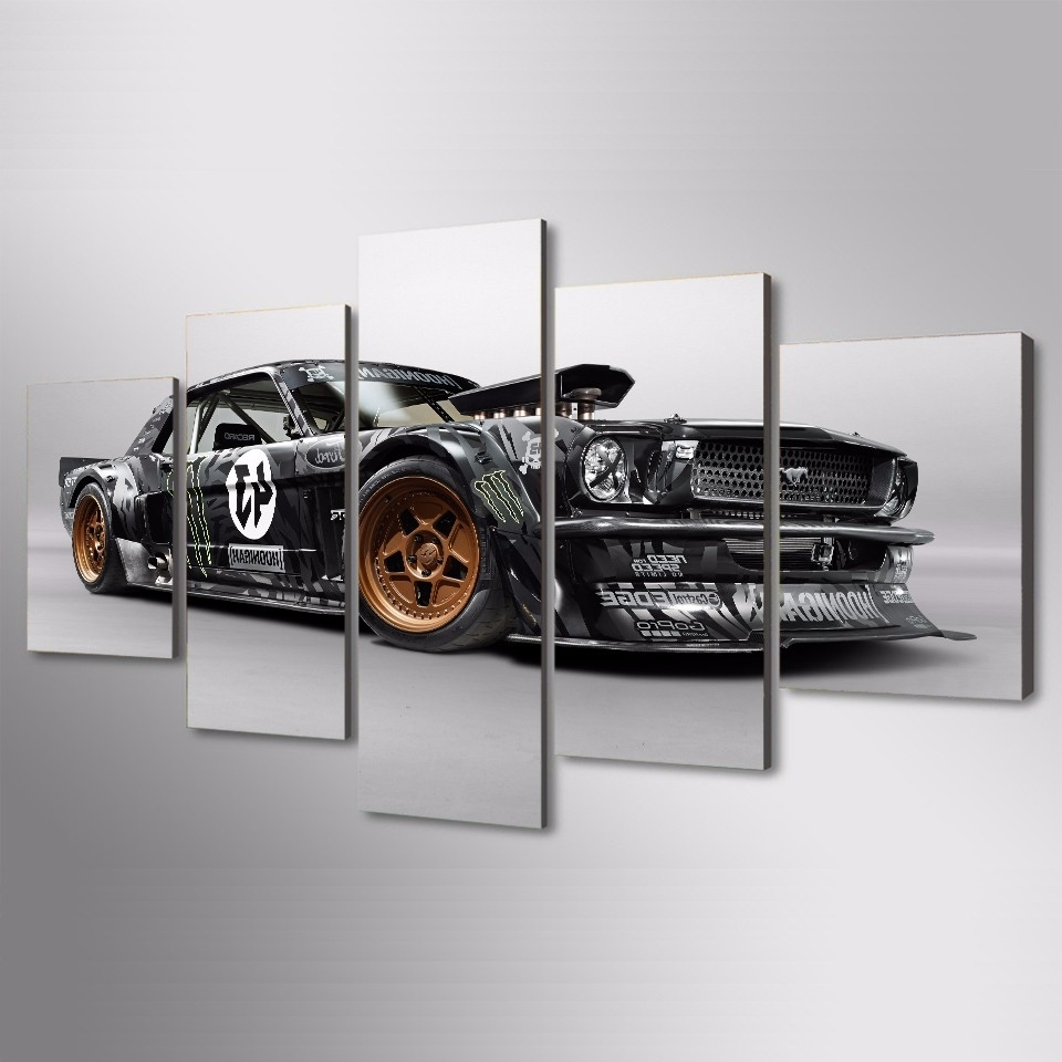 Ford Mustang Metal Wall Art For Popular 5 Pcs/set Framed Hd Printed Ford Mustang : ford mustang metal wall art - www.pureclipart.com