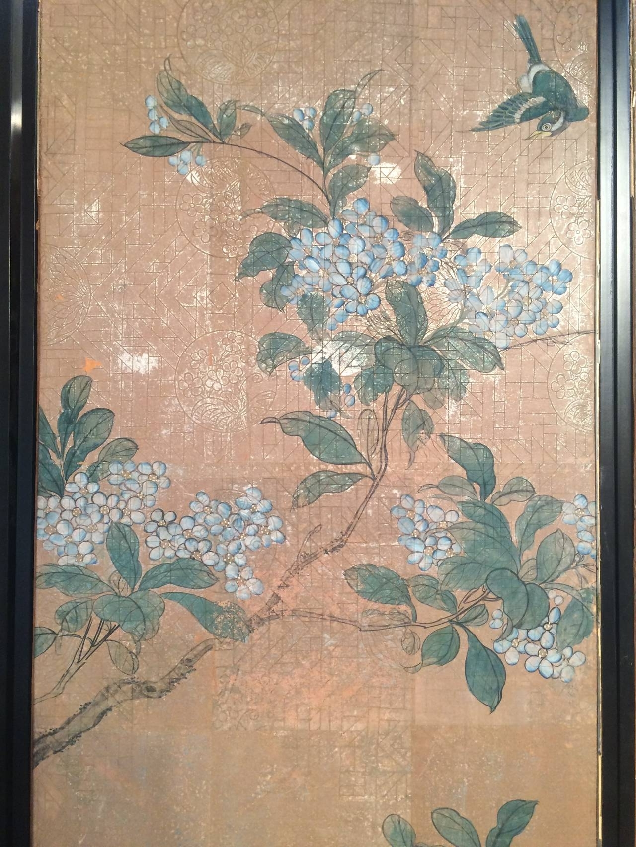 Four Framed Vintage Gracie Chinoiserie Wallpaper Panels At 1Stdibs In 2017 Chinoiserie Wall Art (View 8 of 15)