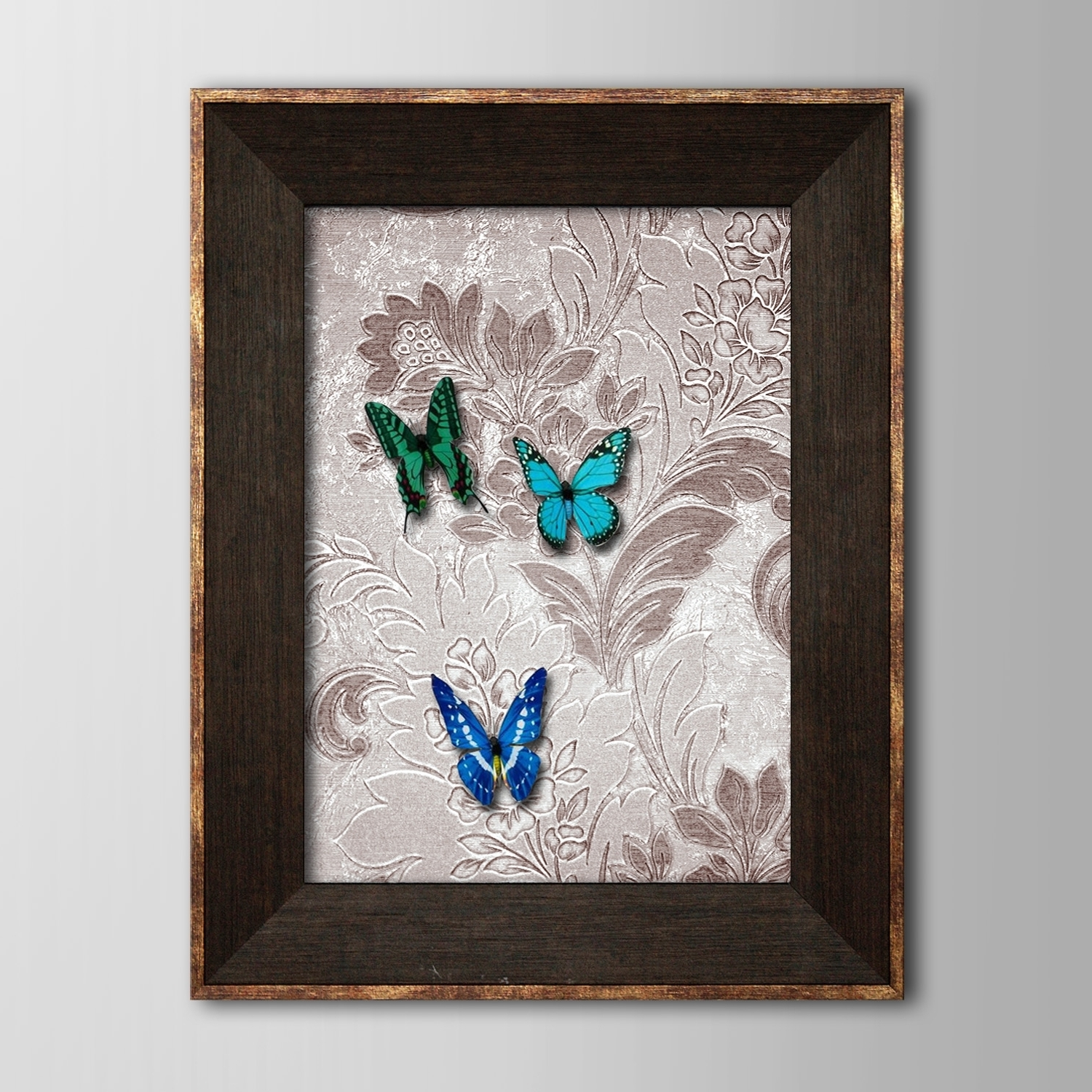 Framed 3D Wall Art Inside Well Known Framed 3D Art Wall Art , Animal 3D Butterflies Three Butterflies (View 6 of 15)