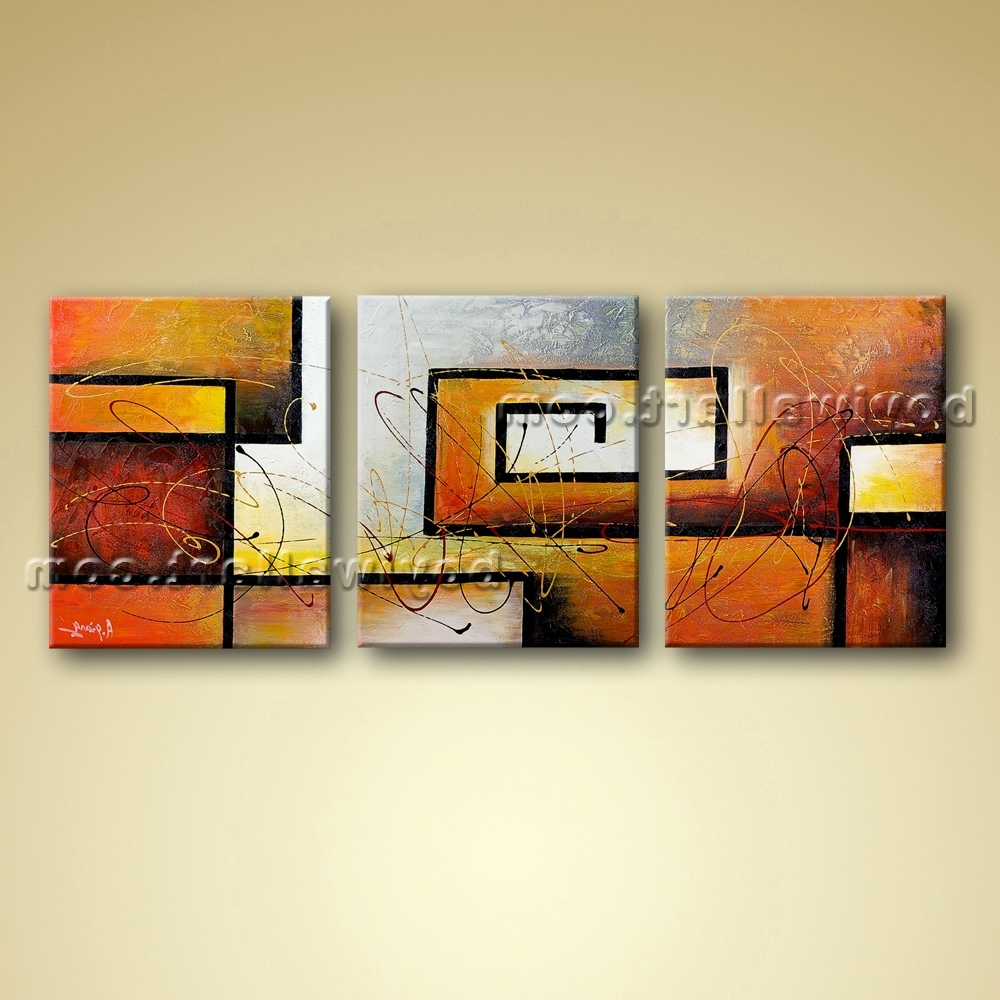 Framed Abstract Wall Art Throughout Preferred Modern Abstract Canvas Wall Art Giclee Oil Contemporary Framed (View 6 of 15)