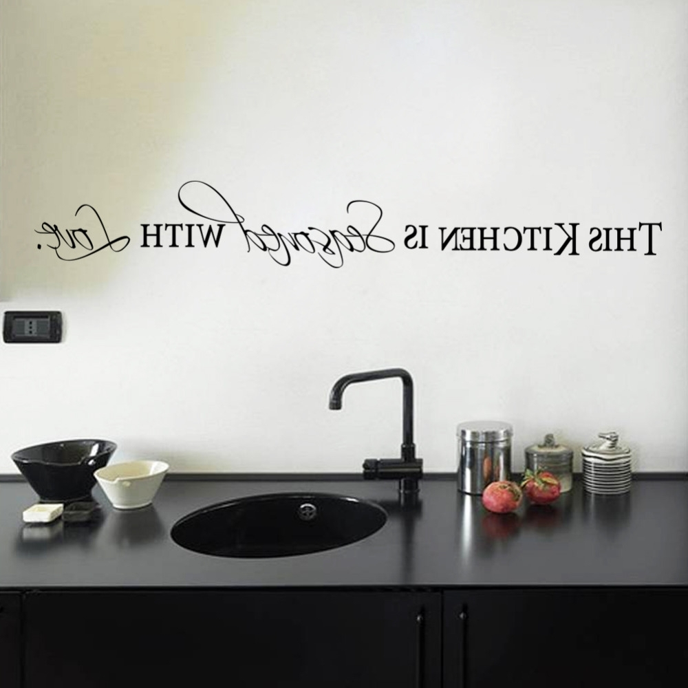 Free Shapping Diy Wall Stickers Kitchen Decal Home Accessories With Regard To Most Popular 3D Wall Art For Kitchen (View 8 of 15)