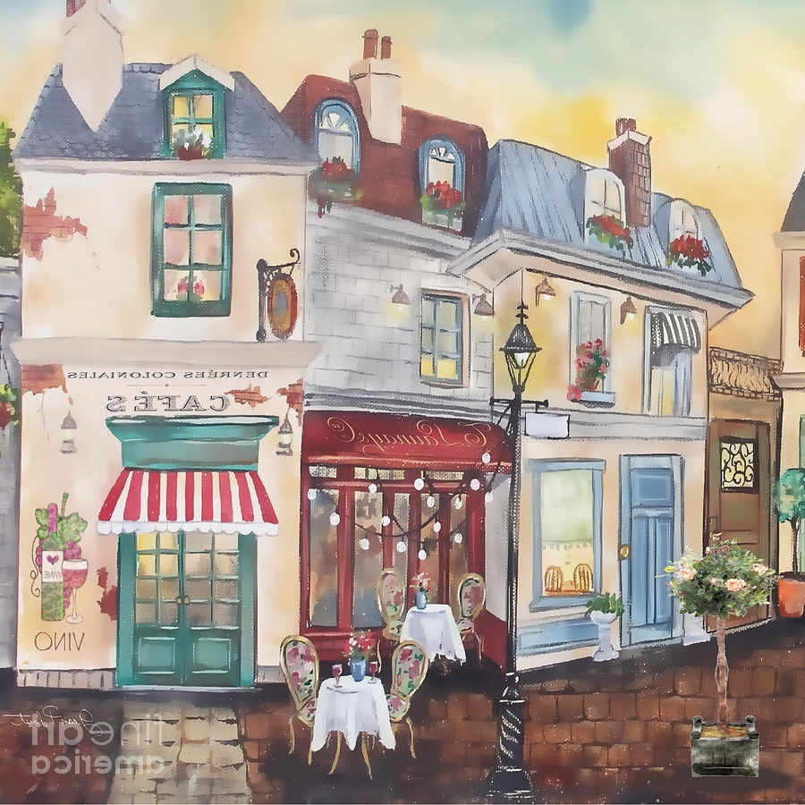French Street Scene Jp3206 Paintingjean Plout With Regard To Well Liked Street Scene Wall Art (View 6 of 15)