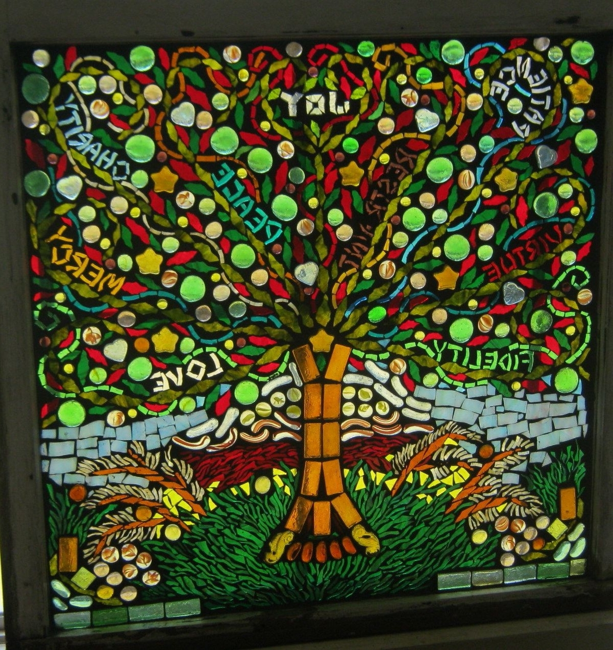Fruit Of The Spirit Artwork Intended For Best And Newest Tree Of Life – Fruit Of The Spirit Glass On Glass Mosaic Private (View 6 of 15)