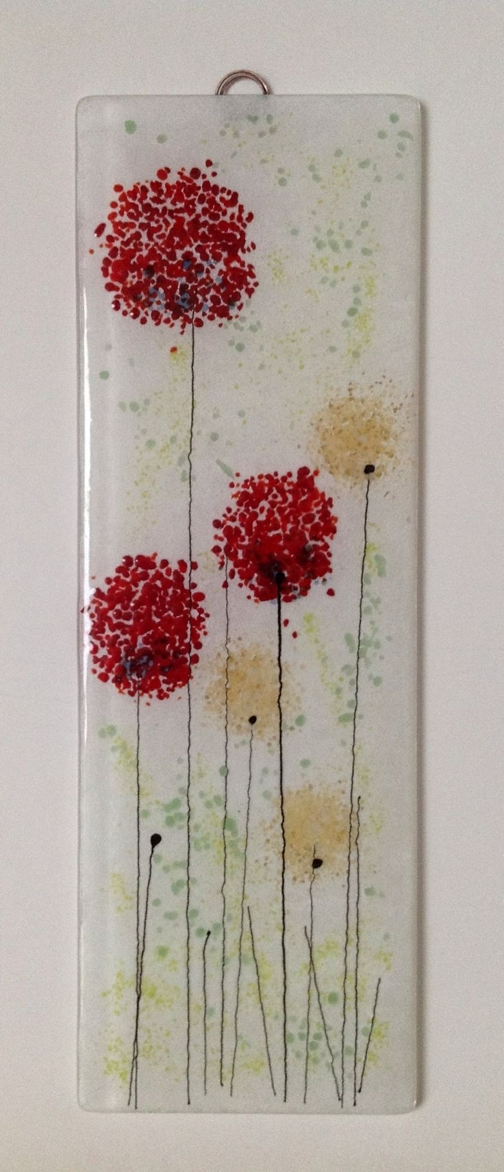 Fused Glass Flower Wall Art Regarding Best And Newest 125 Best Fused Glass Wall Art – Panels – Hangings – Candle Screens (View 3 of 15)