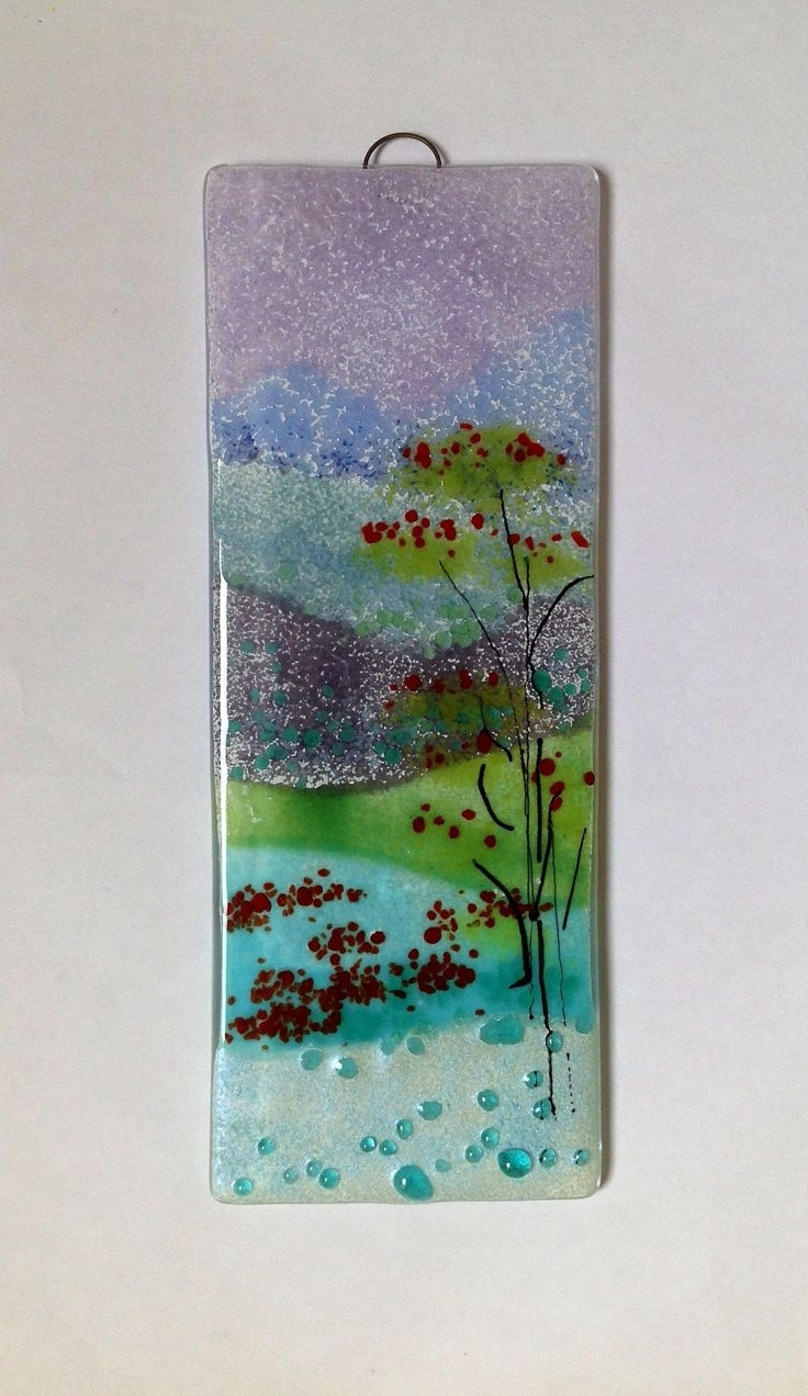 Fused Glass Wall Art Hanging For Latest 124 Best Fused Glass Wall Art – Panels – Hangings – Candle Screens (View 14 of 15)