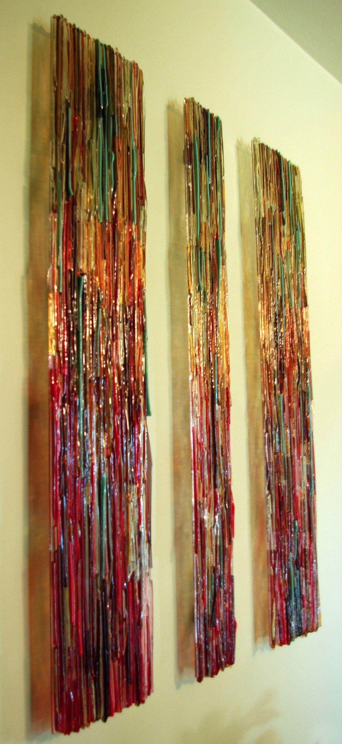 Fused Glass Wall Artwork Pertaining To Well Known Transpire Wall Panels: Sarinda Jones: Art Glass Wall Art – Artful (View 4 of 15)