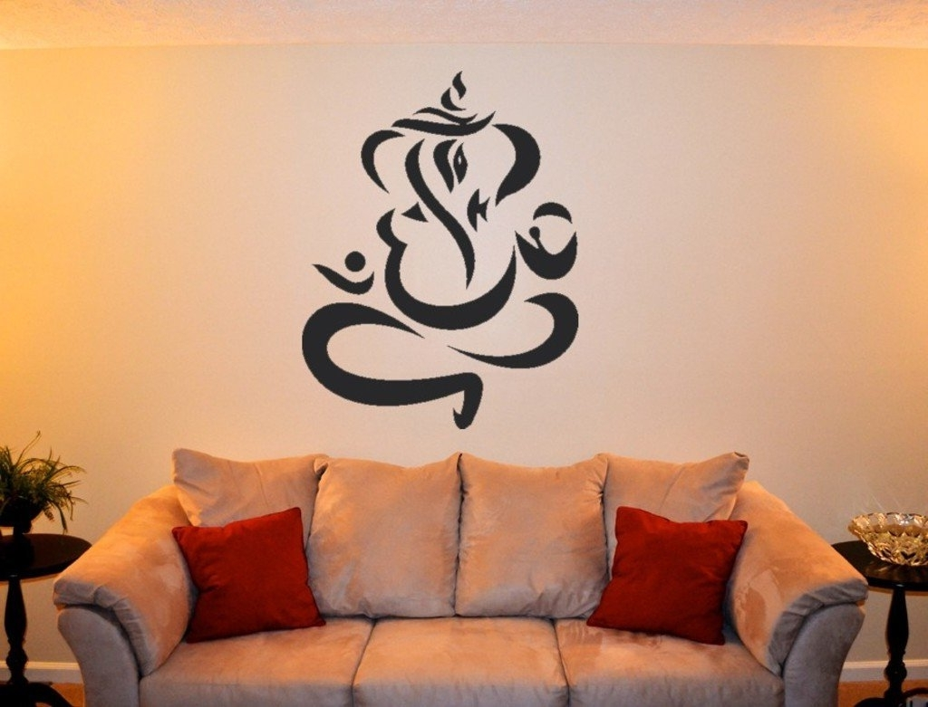 Ganesh Wall Art With Regard To Most Up To Date Buy Decals Design 'modern Ganesh' Wall Sticker (Pvc Vinyl, 60 Cm X (View 8 of 15)