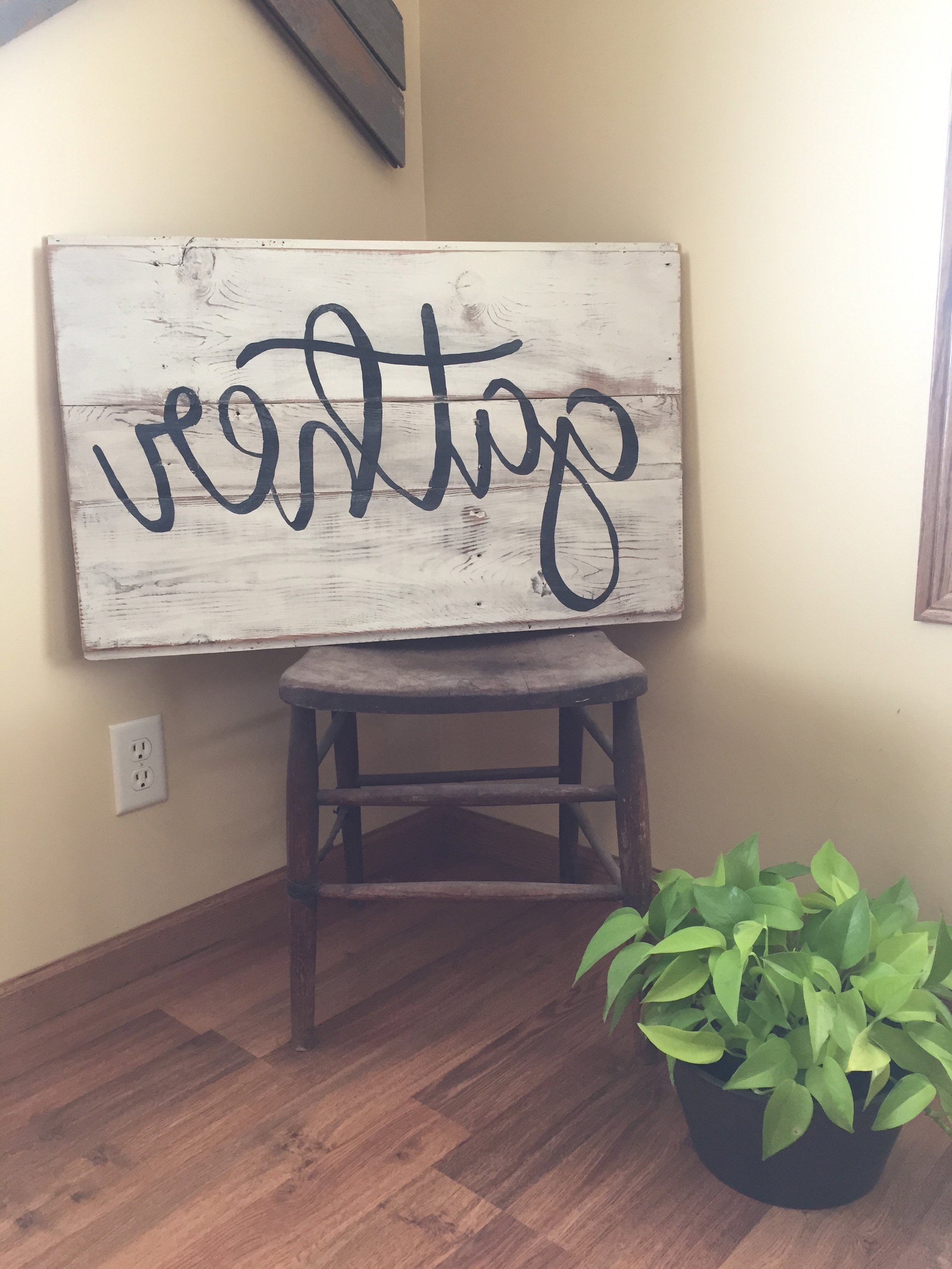 Gather Sign. Wood Wall Art. Word Art. Reclaimed Wood Sign (View 2 of 15)