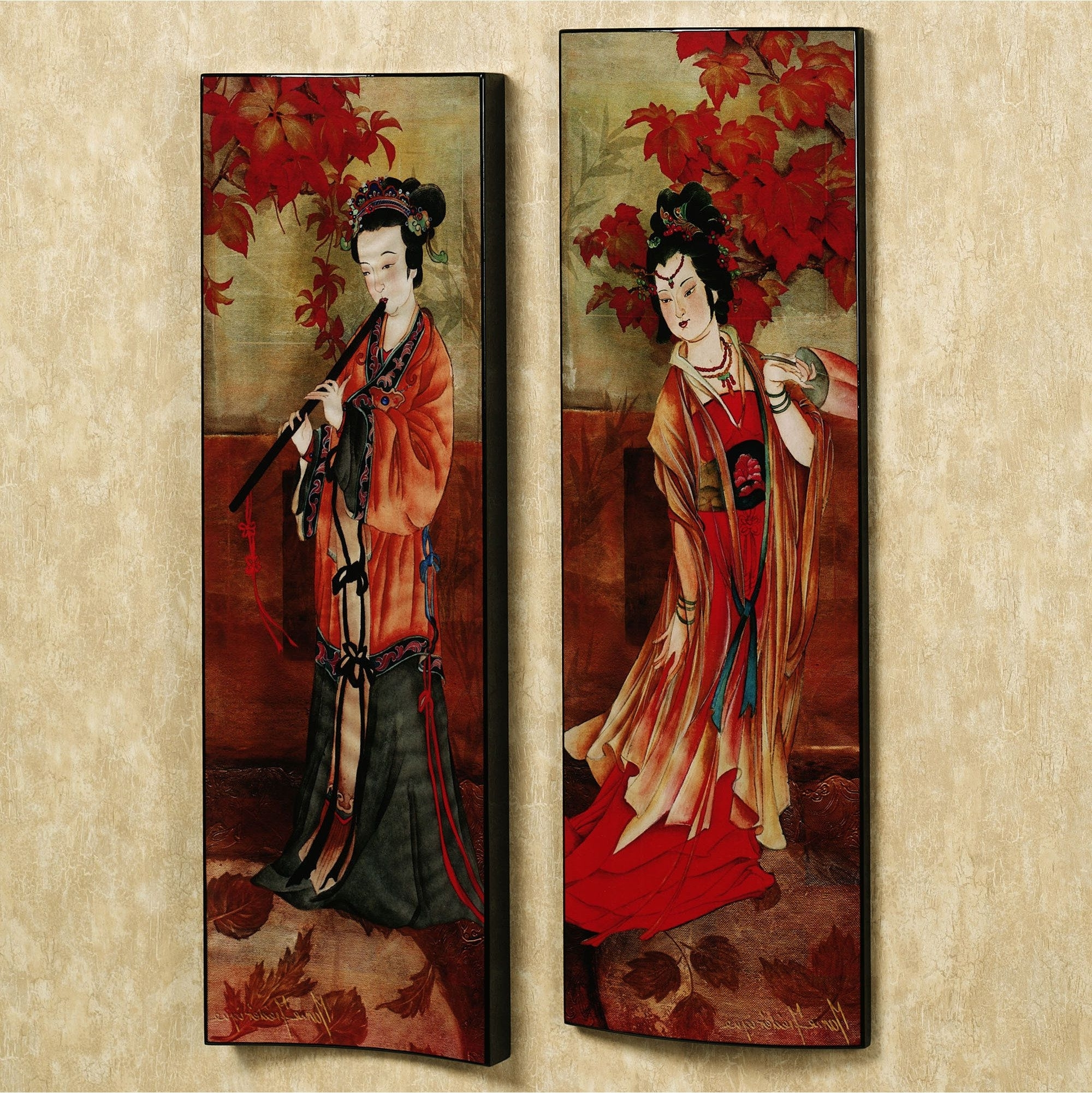 Geisha And Paintings Pertaining To Geisha Canvas Wall Art (View 3 of 15)