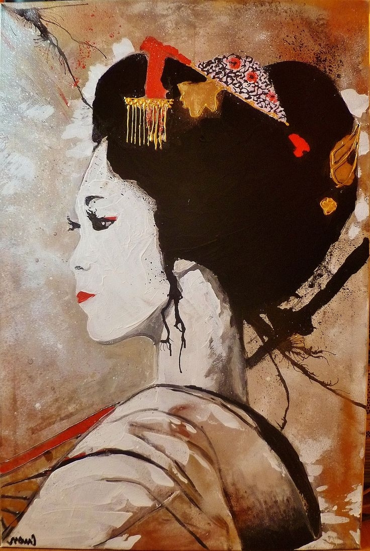 Featured Photo of Geisha Canvas Wall Art