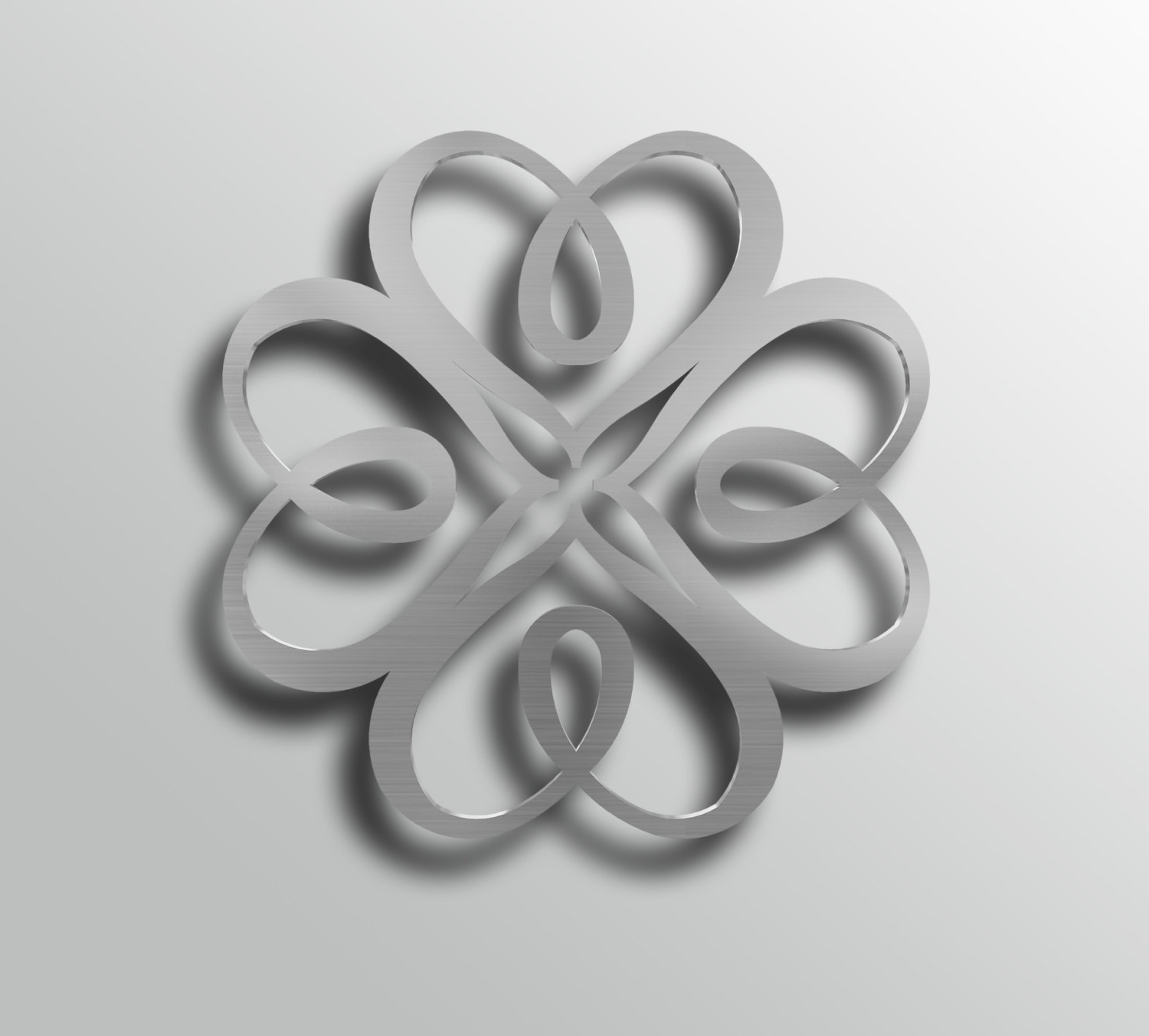 Geometric Heart, Abstract Metal Wall Art Sculpture, Heart Wall Regarding Recent Abstract Heart Wall Art (View 11 of 15)