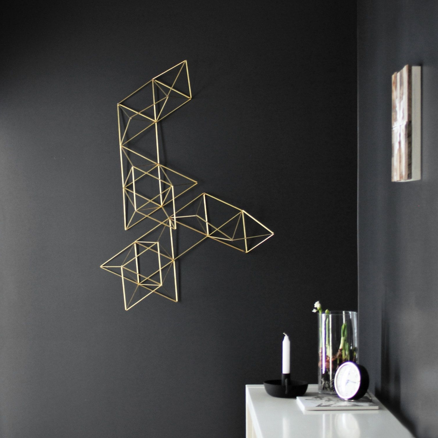 Geometric Modern Metal Abstract Wall Art Throughout Well Liked Lux – Large Abstract Wall Sculpture – Geometric Art – Himmeli (Gallery 7 of 15)