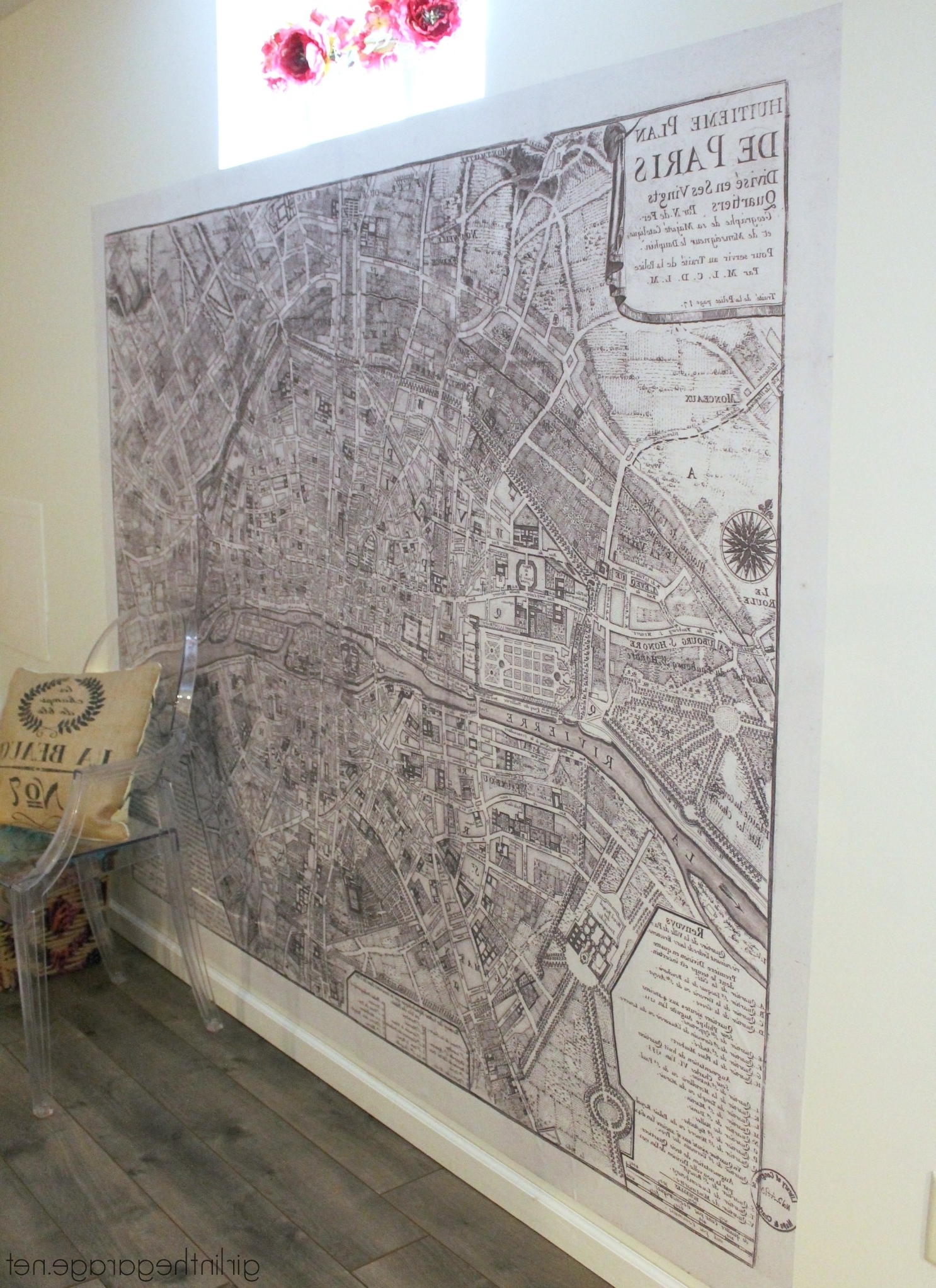 Giant Paris Wall Map – How To Make A Statement Wall With Removable With Preferred Map Of Paris Wall Art (Gallery 6 of 15)