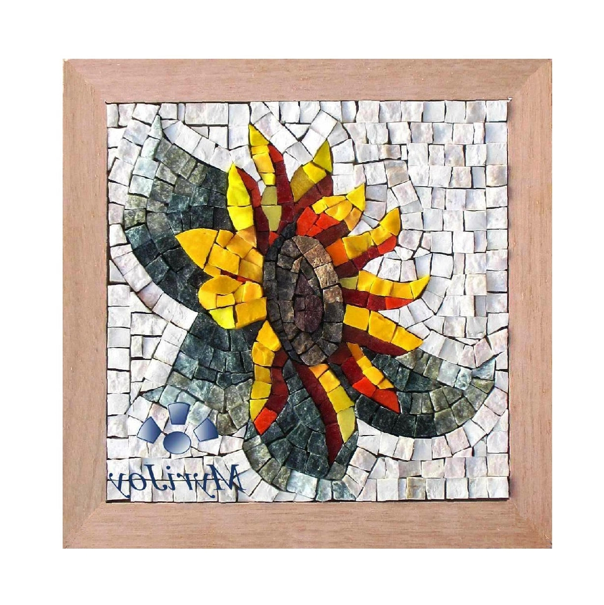 Gifts For Women Diy Mosaics Wall Art Sunflower – Marble & Stained With Regard To Trendy Mosaic Wall Art Kits (View 5 of 15)