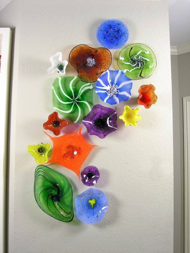 Featured Photo of Fused Glass Flower Wall Art