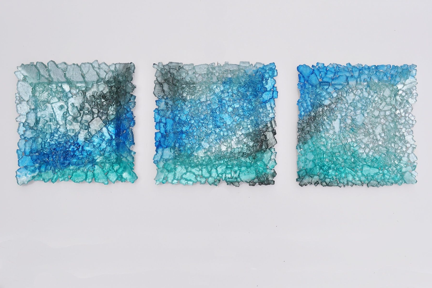 Glass Wall Art For Sale With Best And Newest Glass Landscape Triptychmira Woodworth (Art Glass Wall Art (Gallery 11 of 15)