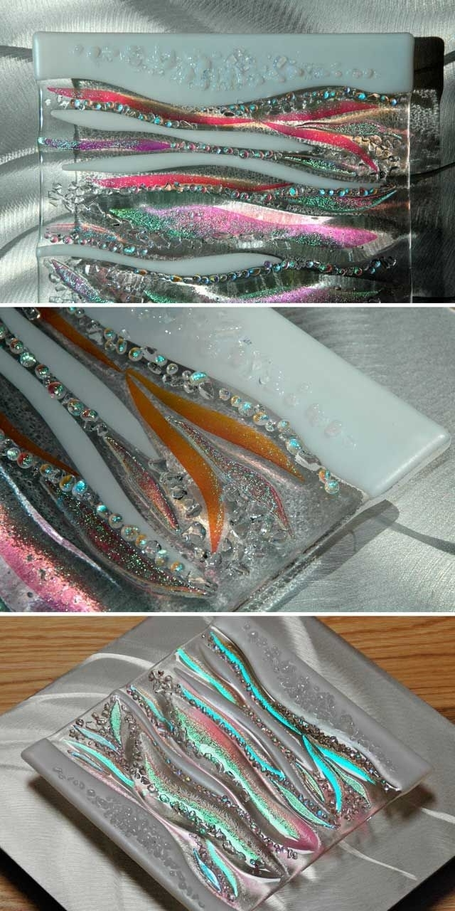 Glass Wall Art, Fused Glass & Metal Within Fused Glass And Metal Wall Art (View 8 of 15)