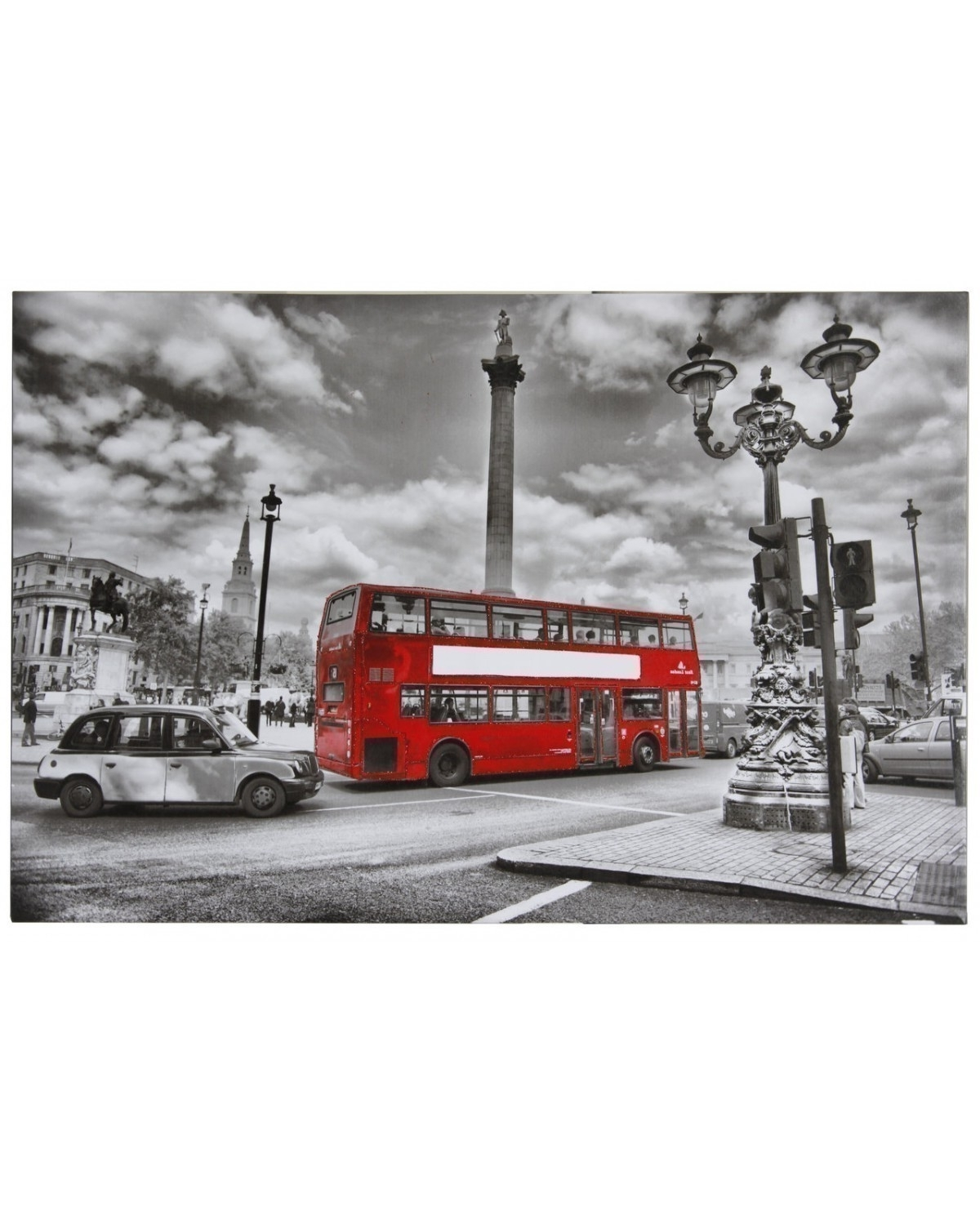 Glitter London City Scene Ii Canvas Wall Art 90 X 60Cm With Regard To Most Recently Released London Scene Wall Art (View 4 of 15)
