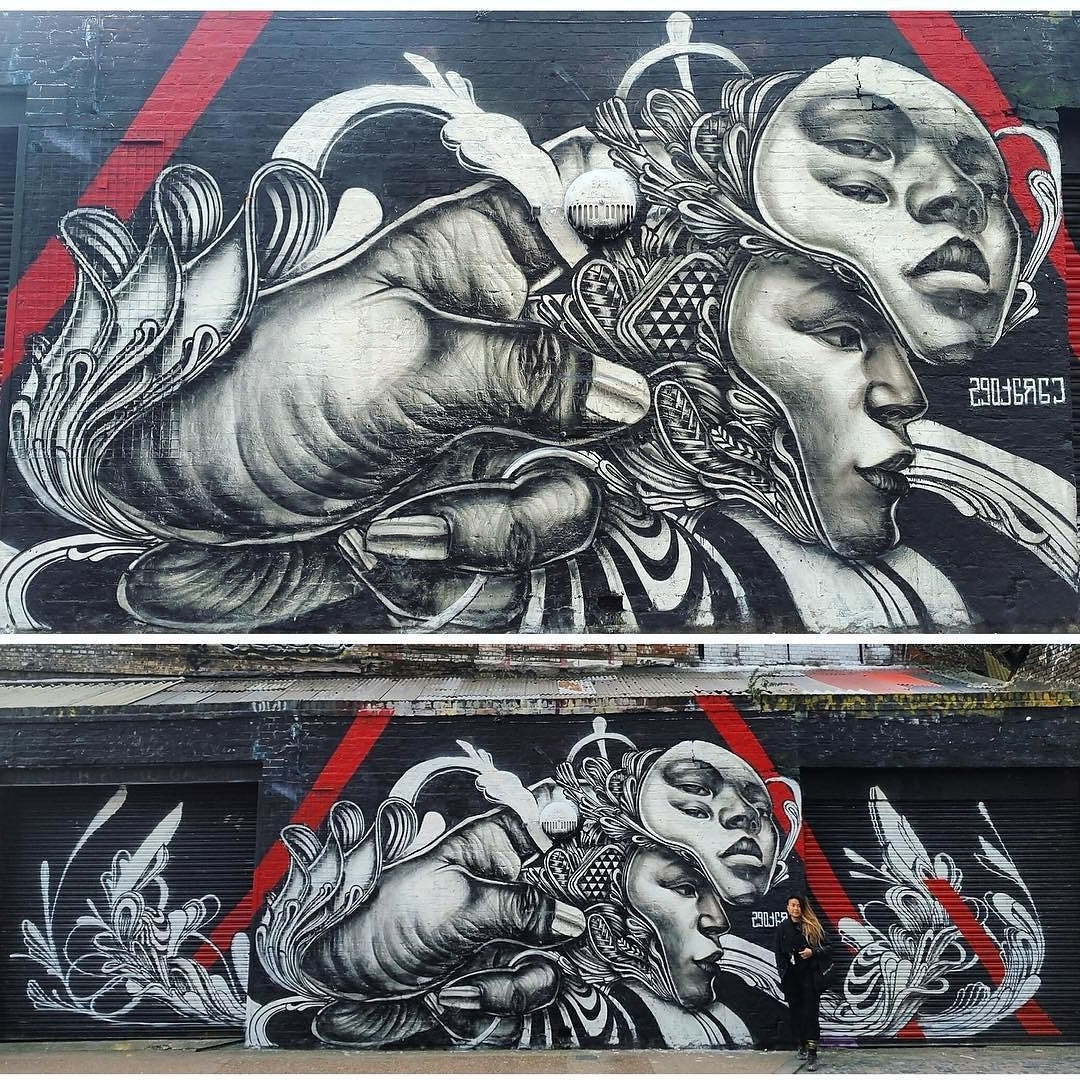 Global Street Art — Extremely Dope Wall In London@caratoes Regarding Popular Dope Wall Art (View 8 of 15)