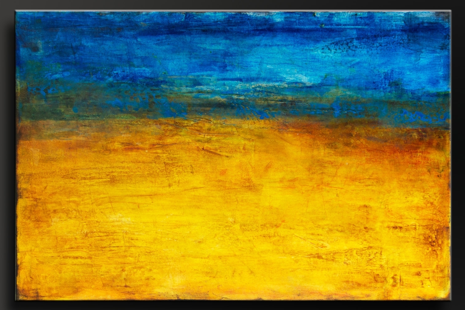 Golden Horizon – 36X24 – Abstract Acrylic Painting – Contemporary Intended For Preferred Abstract Horizon Wall Art (Gallery 10 of 15)