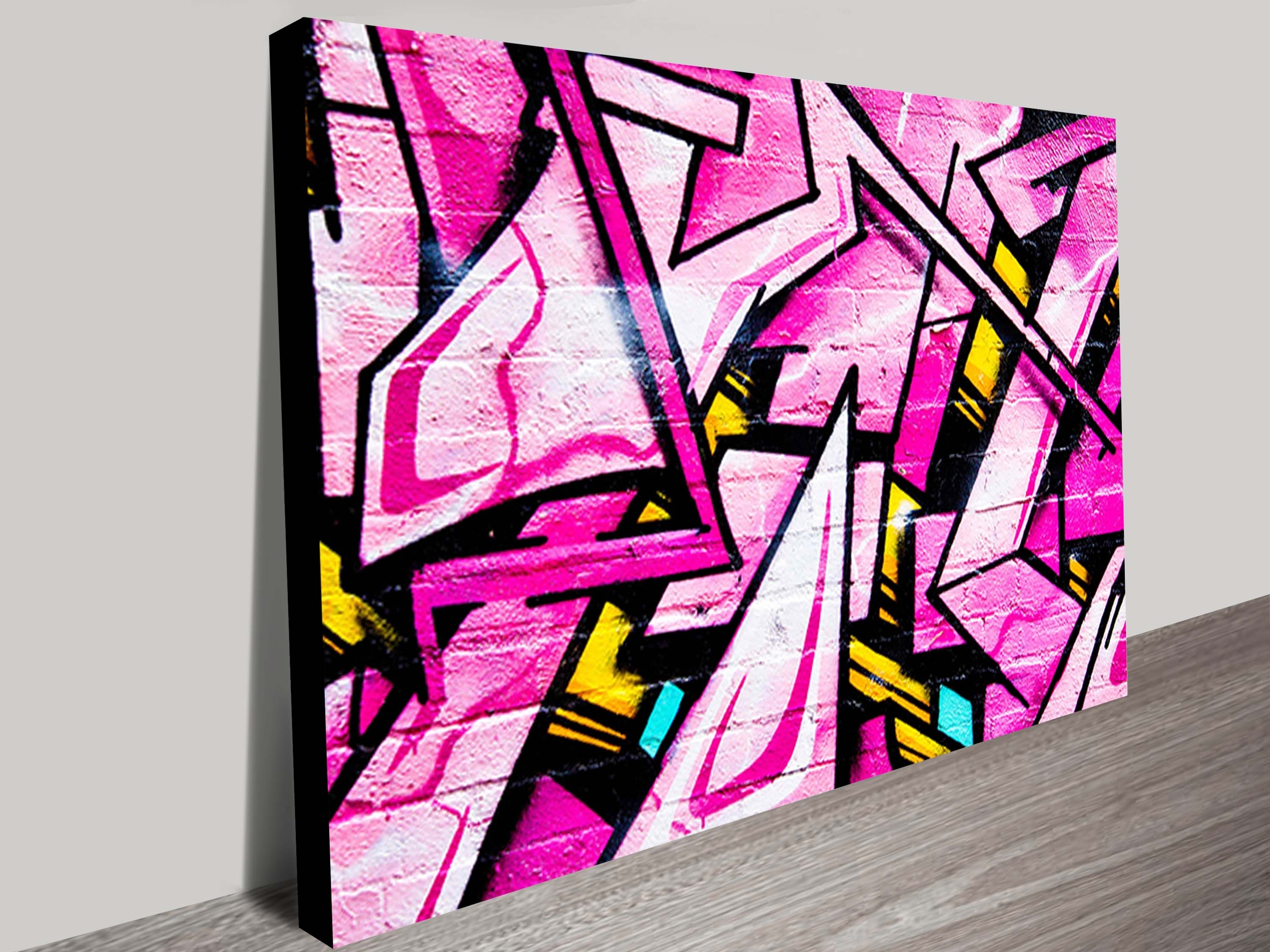Graffiti Street Art On Canvas Brisbane Australia Throughout Recent Brisbane Abstract Wall Art (Gallery 15 of 15)